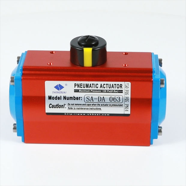 Shengboai Air Torque Pneumatic Rotary Actuator with Solenoid Valve for Industrial Valve pictures & photos