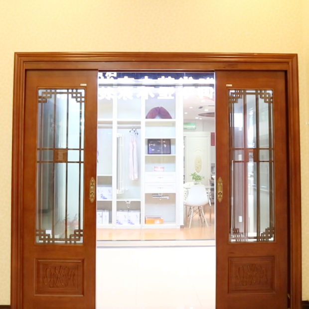 Best Sale Interior Entry House Solid Wood Patio Door with Glass (YH-6001-1) - China Best Sale Interior Entry House Solid Wood Patio Door With