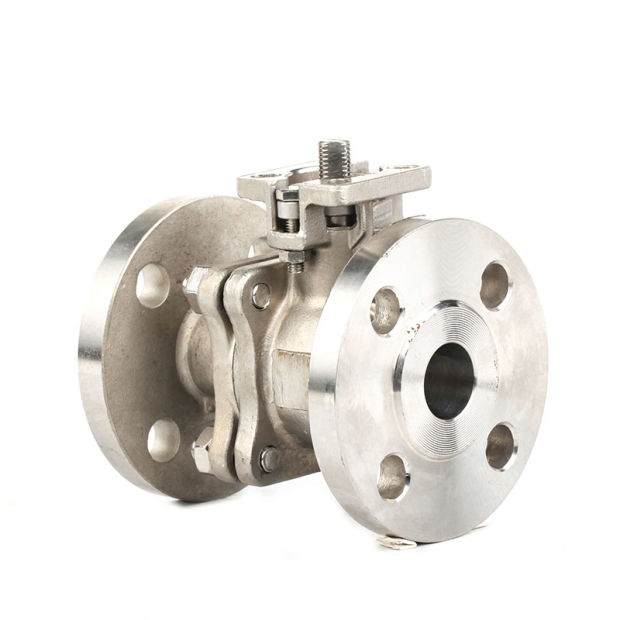 Stainless Steel 2PC Ball Valve with Pn16 Flange End pictures & photos