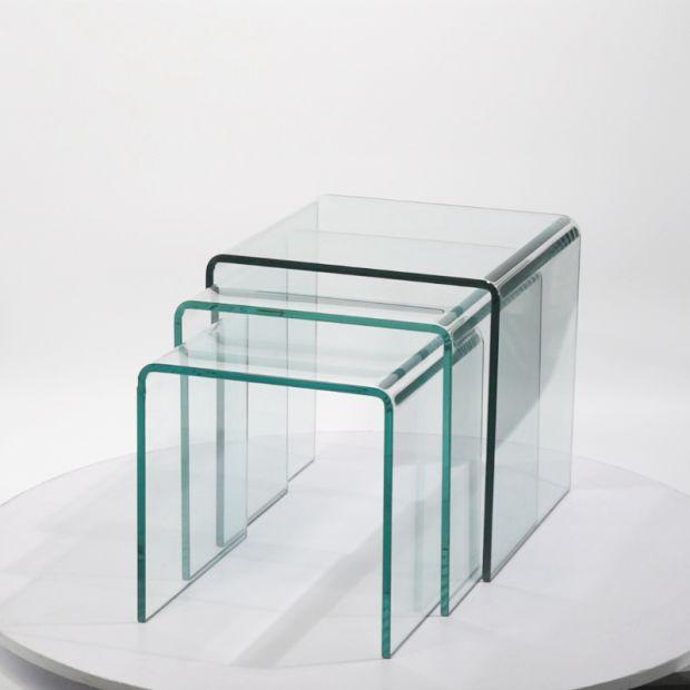 Mobiliario moderno de cristal de nido de mesa mobiliario for Mobiliario moderno
