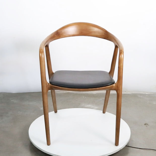 Hot Item New Design Solid Wood Chair With Arm Dining Room Furniture