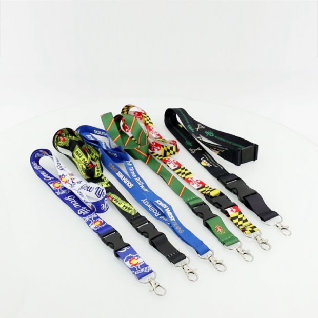 Custom Logo Woven Lanyard Sublimation Heated Transfer Neck Nylon Woven Polyester Printing Lanyard for Promotional Gift (001) pictures & photos