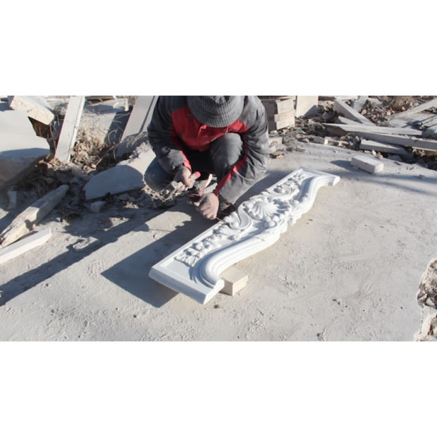 Simple Granite Stone Carving Home Decoration Sculpture Statue Heater Marble Fireplace pictures & photos