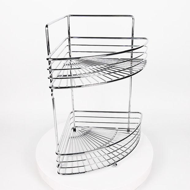 China 2 Tier Bathroom Corner Baskets Shampoo Shelf Shower Caddy ...