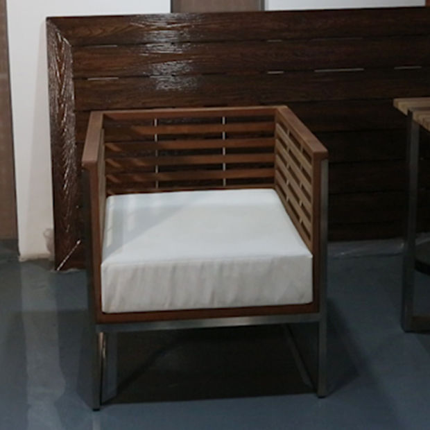 Venta caliente Sofá moderno de madera de teca muebles de exterior ...