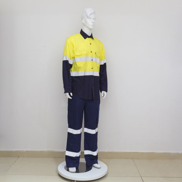 Fluorescent Reflective Tape Mining Uniform Safety Coverall pictures & photos