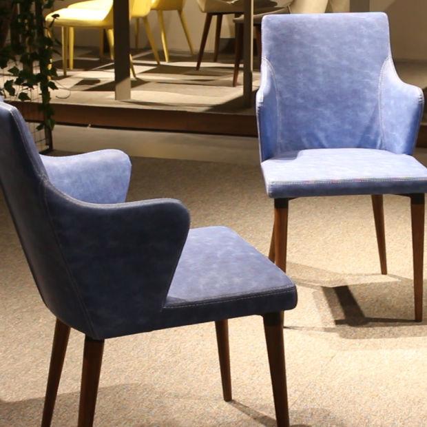 China Classic Venta caliente azul silla de comedor de madera ...