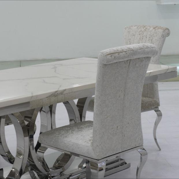 China Muebles de comedor moderno estilo nuevo de acero ...