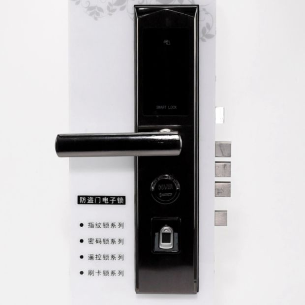 door lock and key black and white.  And Home Smart Bluetooth APP Electronic Door Lock With Code Card Fingerprint  Key Function Throughout And Black White N