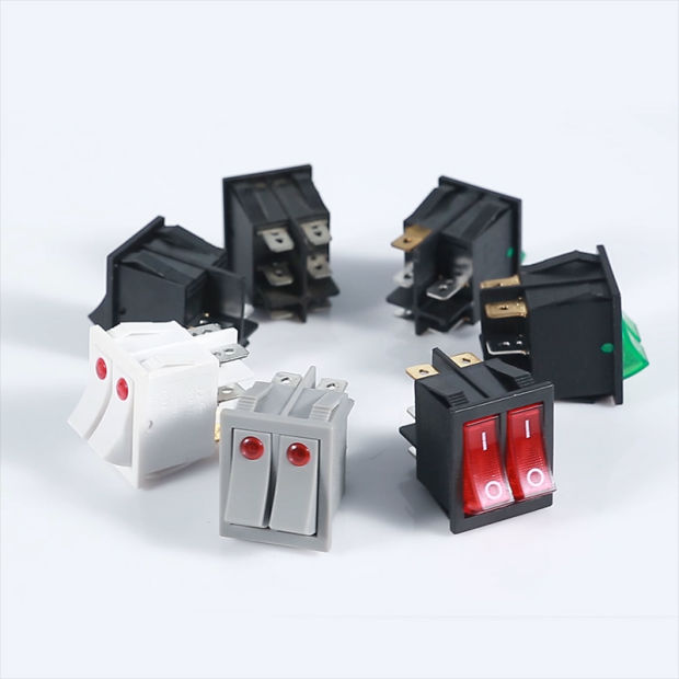 Kcd4-202 Double Key Rocker Switch 6A 250VAC Dpdt Rocker Switches pictures & photos