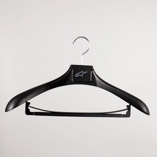 Top Brand Custom Logo Plastic Wetsuit Hanger with Trouser Bar pictures & photos