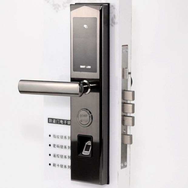 China Home Smart Bluetooth APP Electronic Door Lock With Code, Card,  Fingerprint, Key Function   China Electronic Lock, Electronic Door Lock