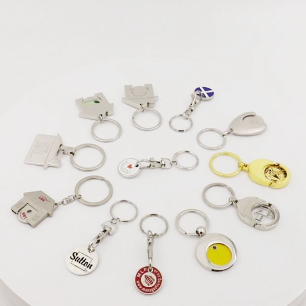 Customized Wholesale Metal Trolley Coin Holder Shopping Cart Trolley Coin Key Chain pictures & photos