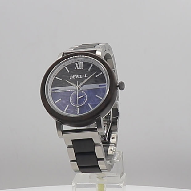 Wholesale Factory Custom Fashion Gift Watches Japan Quartz Movt Stainless Steel with Wood Wrist Watch pictures & photos