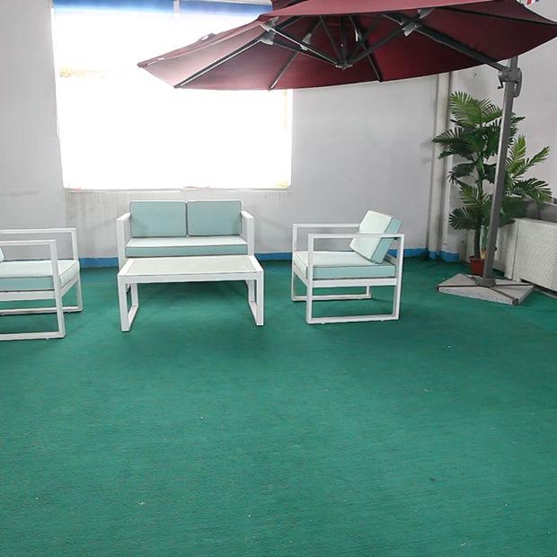 Nouveau design de mobilier de jardin en rotin synthétique aluminium sofa  pour jardin & Hotel
