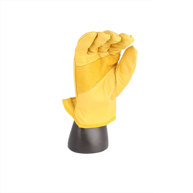 Anti-Slip Leather Abrasion Resistant Soft Sheepskin Mechanical Safety Work Gloves pictures & photos