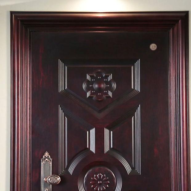 Modern Safety Steel Security Door Main Exterior Door Design