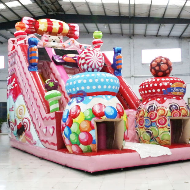 Factory Candy Commercial Inflatable Combo with Slide (AQ01756) pictures & photos