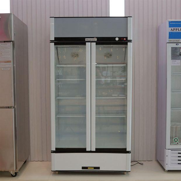 China Double Glass Door Commercial Freezer Displayrefrigerator