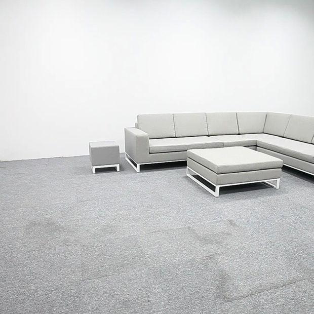Mobilier de jardin Ensemble de salon en tissu moderne –Mobilier de ...