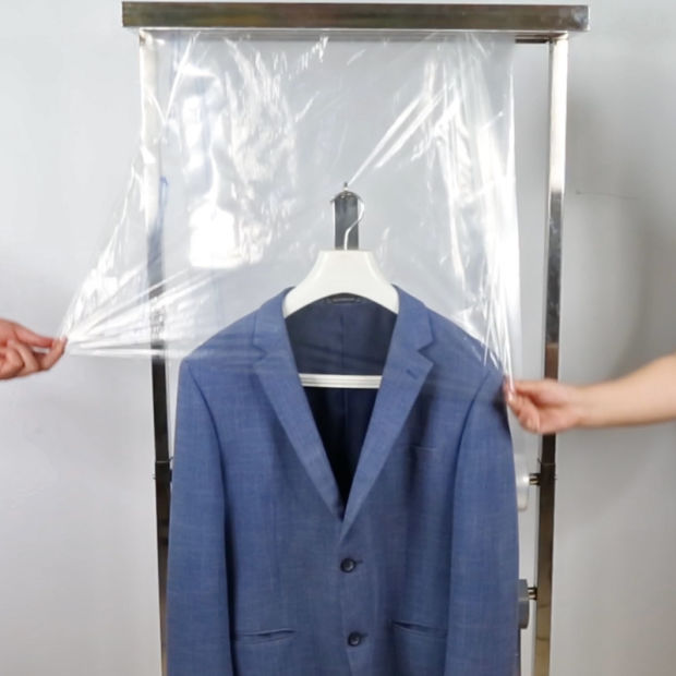 China Oem Clear Polythene Suit Dress Garment Bag For Clothes Cover