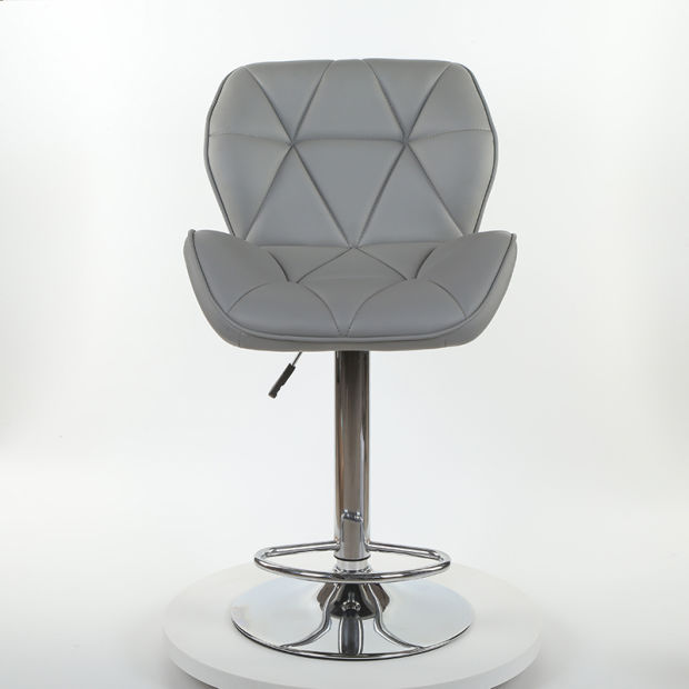 PU Leather Swivel Commercial Bar Stool with Footrest Supplier Yb-868m pictures & photos