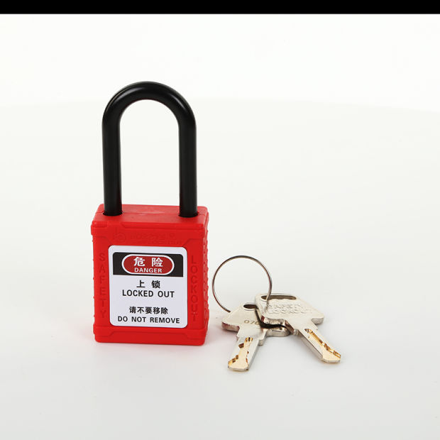 38mm Colorful Nylon Shackle Safety Padlock Lockout Padlock (BD-G11) pictures & photos