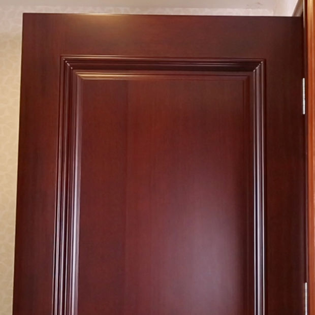 Modern Simple Exterior Timber/MDF With Veneer Solid Wood Door (YH3031)
