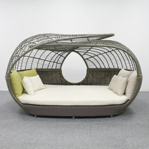 Canopyの贅沢なFurniture Sofa Bed Rattan Daybed