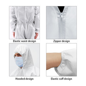 Disposable Lab Work Non-Woven Full Body Protective Clothing