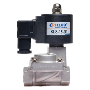 New Product Kls Series Kls-15-D1 2/2 Way Stainless Steel High Temperature Pilot Piston Type Solenoid Valve