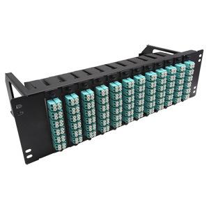 Necero 20 Years OEM Factory Supply CAT6 Cat7 Cat5e Cat5 LC Modular 12 24 48 96 Port Fiber Optic Patch Panel