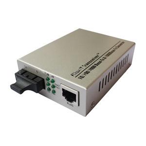 10/100/1000m Sc Dual Fiber Gigabit Fiber Optic Media Converter 20km