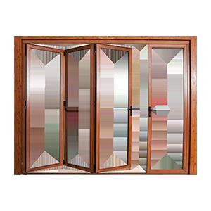 Aluminum/Aluminum Space-Saving Folding Doors and Windows
