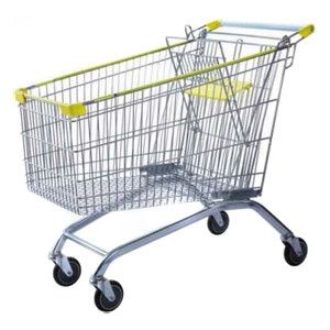 Supermarket Store Grocery Metal Shopping Trolley Go Cart (YD-B)