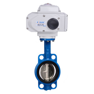 Klqd Brand China Made Rubber Seal Wafer Electric Butterfly Valve