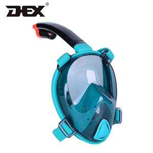 Customized Coating Color Frameless Full Face Snorkel Mask with Camera Mount