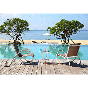 New Design Garden Dining Furniture with Alpha Frame for Outdoor Dining