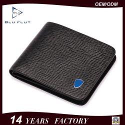 Hot Sale Classic Design Custom Logo Men's Genuine Leather Short Wallet