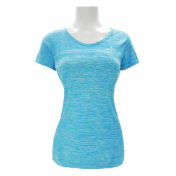 Sport Wear Training Slim Fit Fitness Sportswear Type Ladies T Shirt