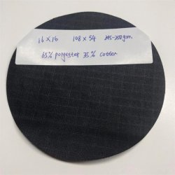 Customize Dyeing 16*16/108*54 245GSM Tc 65/35 Polyester/Terylene Cotton Ripstop PU Coated PVC Fabric for Military/Army Forces/Police Uniform Clothing