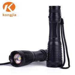 Hot Sale Aluminum Rechargeable Powerful Zoom T6 Tactical Flashlight