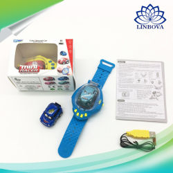 Children Cartoon Gravity Sensing Remote Control Watch Car