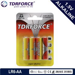 Alkaline Dry Battery with Ce Approved for Toy (LR6-AA Size)