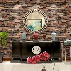 Interior Design PVC Vinyl 3D Brick Wallpaper Wall Papers Home Decor