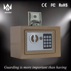 Hot Sale Black Color 17et Money Slotting Mini Steel Plate Home or Hotel Use Safe Box Manufacturer