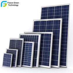 50 Watts Polycrystalline PV Photovoltaic Solar Panel for TV Computer Light