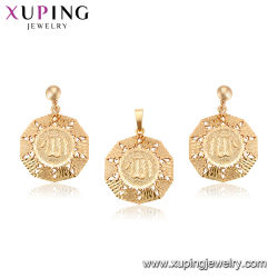Imitation 18K Gold Color Hollow out Heart Shape Religious Jesus Set Jewelry for Girls