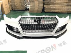 RS Style Front Bumper with Lip Splitter Conversion Body Kit for Audi A4 B9