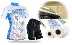 South Korean Equal Quality Fd 30% Adhesive Sublimation Paper for Sportswear/Cycling Clothing/Legging/Swimwear